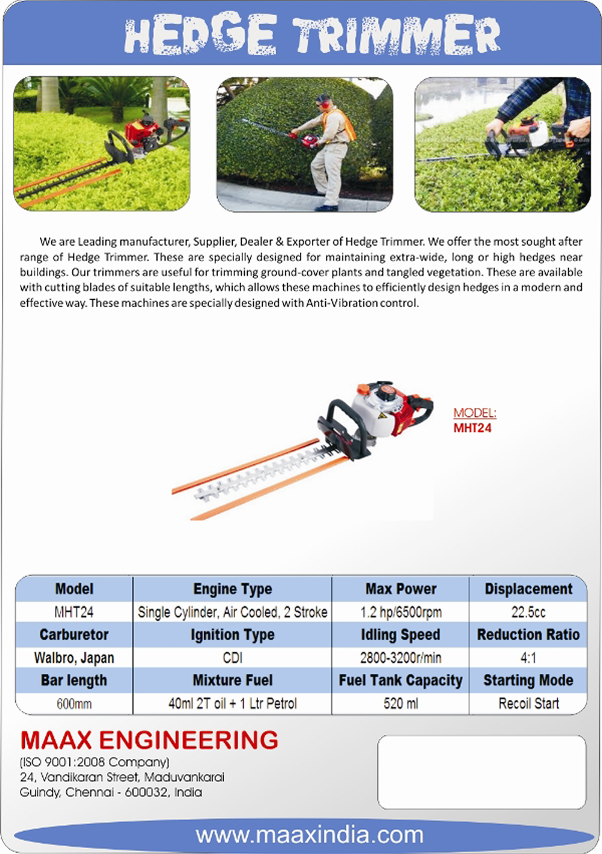 Maax Engineering Gardening, Equipments, Agriculture Equipments in